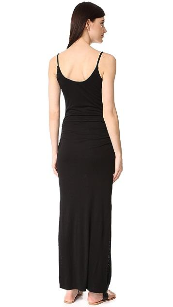 Three Dots Shirred Maxi Dress