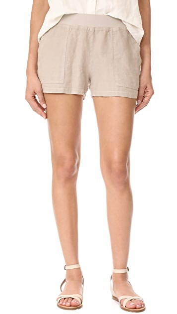 Three Dots Linen Shorts