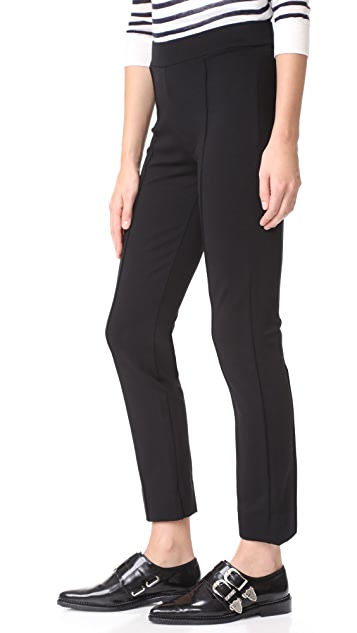 Three Dots Ponte Pintucked Pants