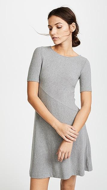 Three Dots Short Sleeve Dress - Granite