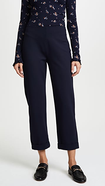 Three Dots Ponte Trousers - Night Iris
