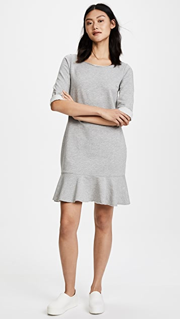 Three Dots Flounce Sweatshirt Dress