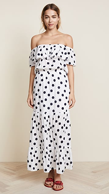 Three Dots Dot Voile Maxi Dress