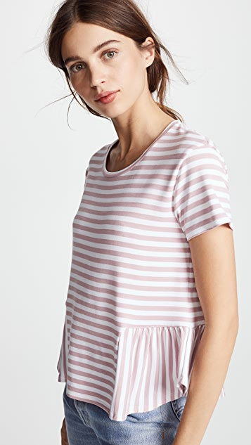 Three Dots Cape Cod Striped Top