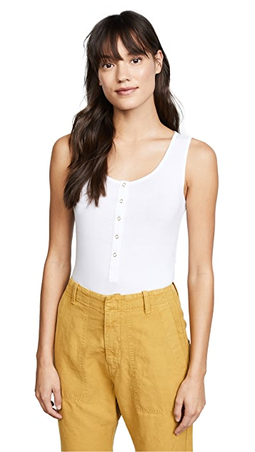Three Dots Refined Jersey Bodysuit