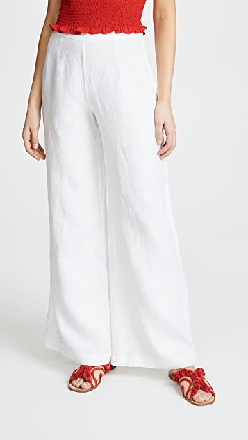 Three Dots Linen Wide Leg Pants
