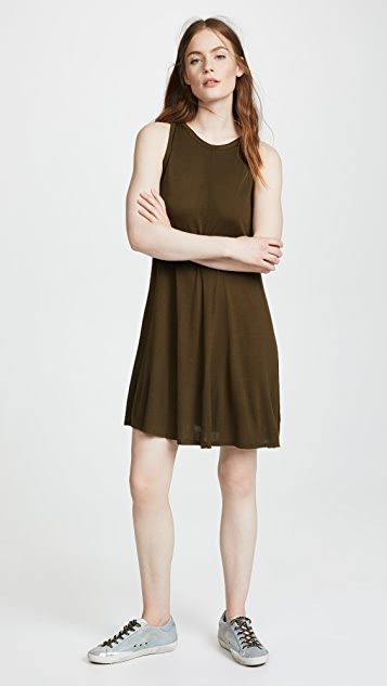 Three Dots Vintage Jersey Swing Dress