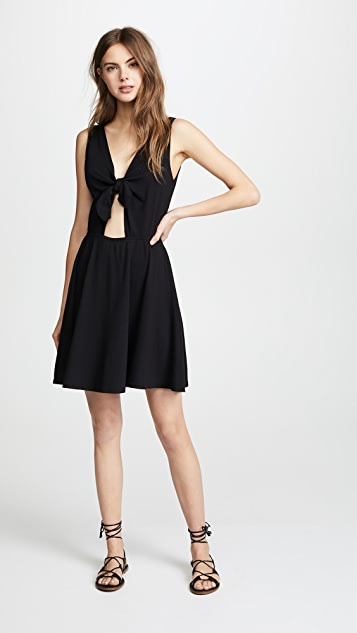 Three Dots Reversible Tie Dress