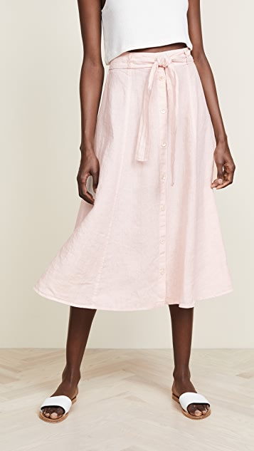 Three Dots Seamed Midi Skirt