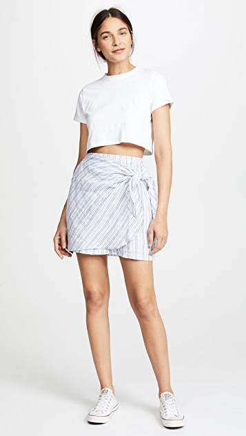Three Dots Faux Wrap Skirt
