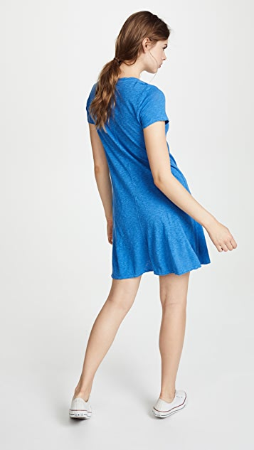 Three Dots Pocket Tee Dress