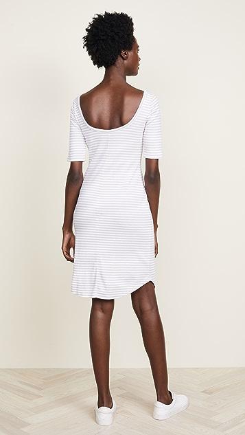Three Dots Scoop Back Dress