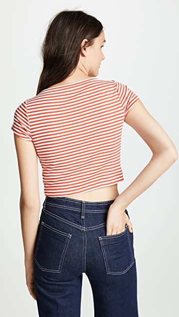 Three Dots Crop Tee