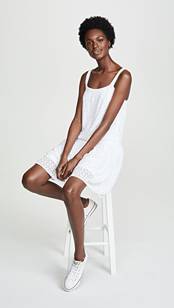 Three Dots Eyelet Dress