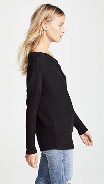 Three Dots Off Shoulder Sweater