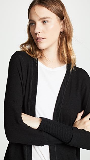 Three Dots Brushed Knit Cardigan
