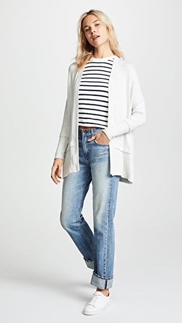 Three Dots Brushed Knit Cardigan