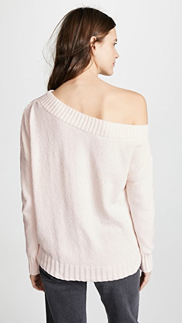 Three Dots Chenille Off The Shoulder Sweater