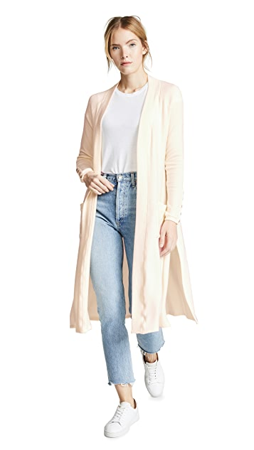 Three Dots Long Brushed Cardigan