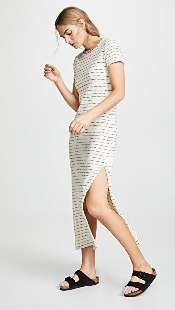 Three Dots Stripe T-shirt Dress
