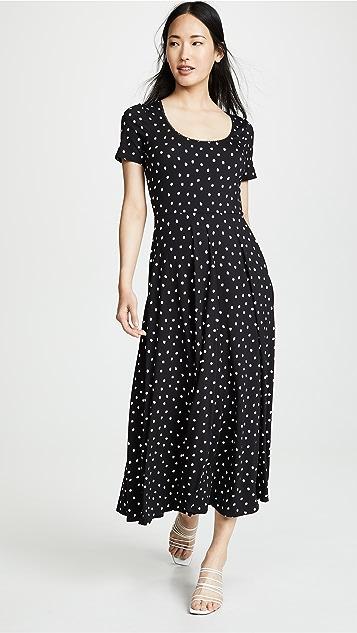 Three Dots Painted Dot Jersey Dress