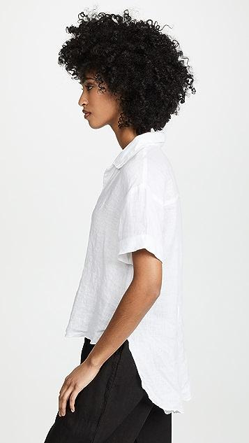 Three Dots Linen Short Sleeve Shirt