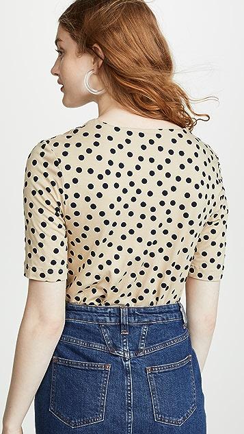 Three Dots Spring Dot Crop Top