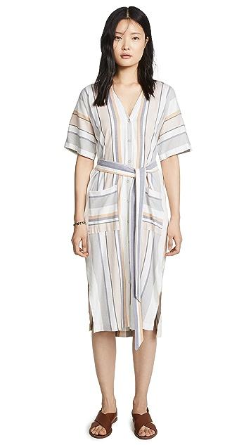 Three Dots Платье в полоску Portofino