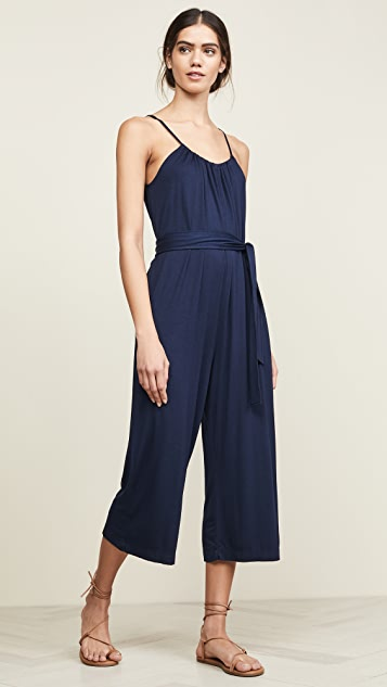 Three Dots Shirred Jumpsuit