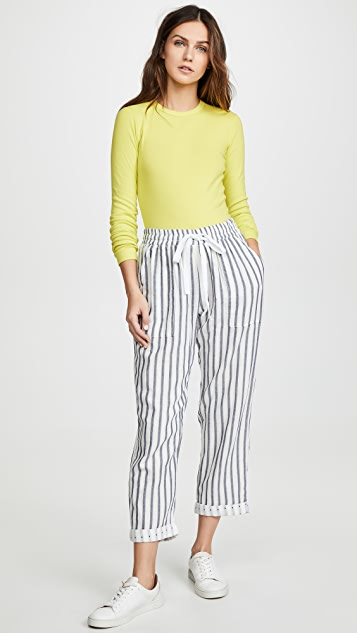Three Dots Stripe And Dot Pants