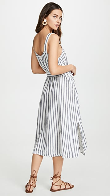 Three Dots Stripe and Dot Dress