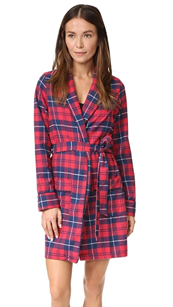 Three J NYC Alex Flannel Robe