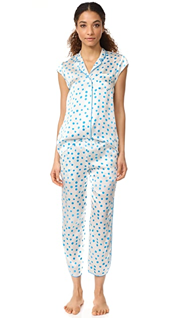 Three J NYC Poppy Silk PJ Set