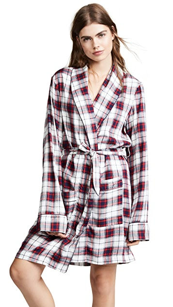 Three J NYC Flannel Robe