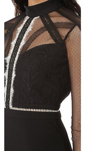 Three Floor On Point Lace Panel Dress