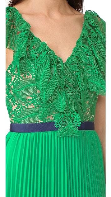 Three Floor Dress Code Pleat Dress