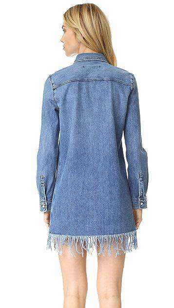 3x1 Платье-рубашка с бахромой WD