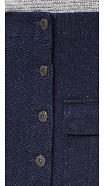 3x1 WS Safari Button Front Skirt