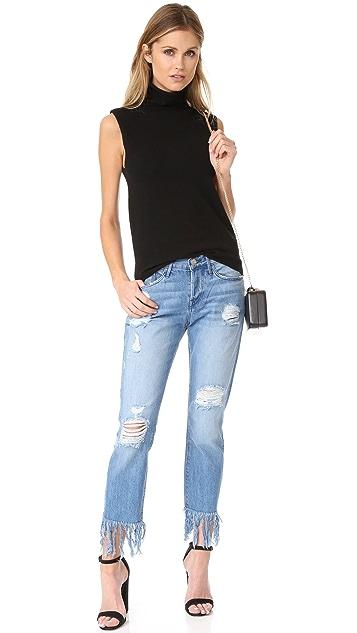 3x1 WM3 Straight Crop Fringe Jeans