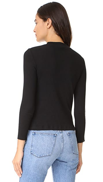 3x1 Mock Neck Rib Shirt