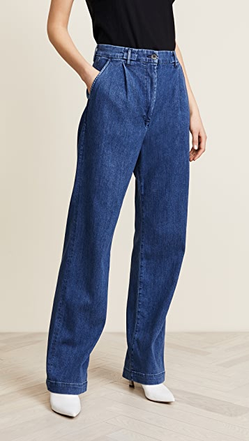 3x1 Pleated Oversized Trouser Jeans - Rays