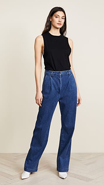 3x1 Pleated Oversized Trouser Jeans