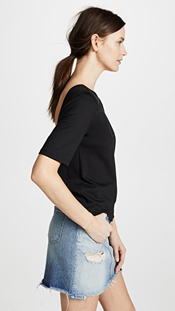 3x1 Short Sleeve Twist Back Tee
