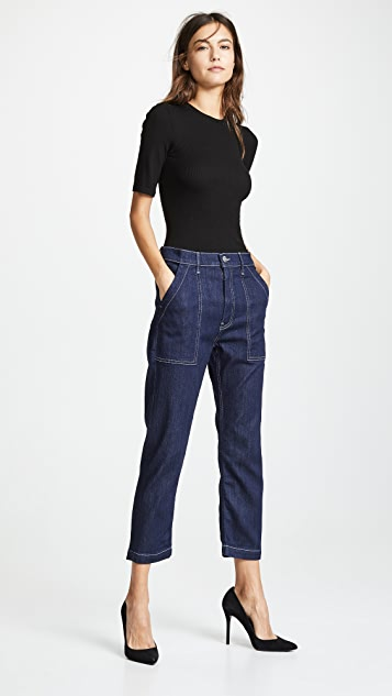 3x1 Sabine Tapered Chino Jeans