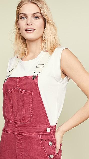 3x1 玫瑰红连体裤