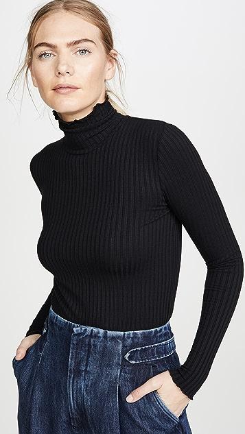 3x1 罗纹高领毛衣