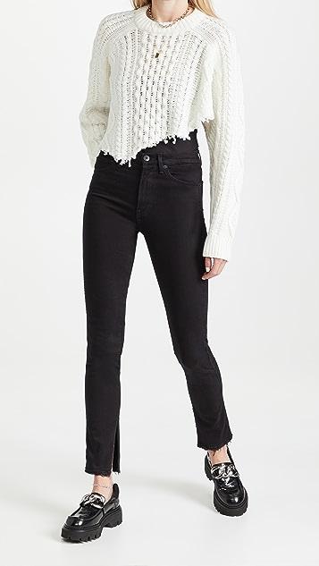 3x1 Kaya Skinny Split Vintage Hem Jeans