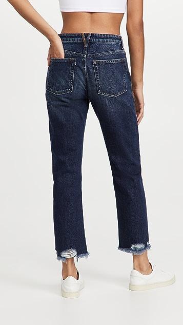 3x1 Higher Ground Boyfriend Destroyed Hem Jeans