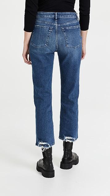 3x1 Emma Sneaker 锯齿边裤脚牛仔裤
