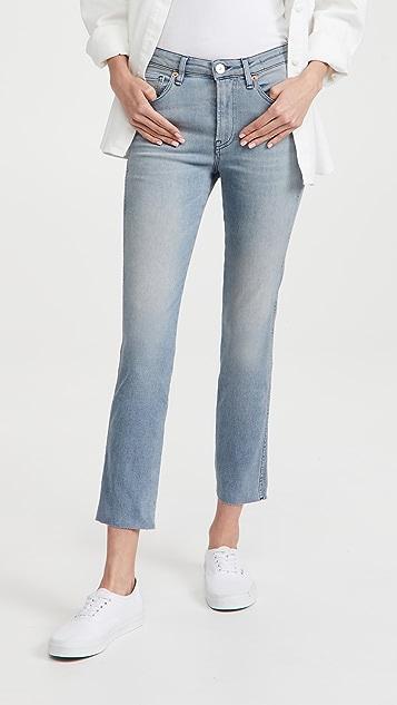 3x1 Straight Authentic Crop Cut Hem Jeans